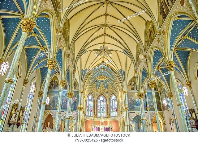 The inside view of the Cathedral of St. John the Baptist