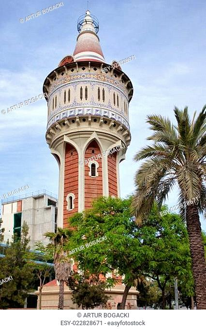 Old Water Tower in Barcelona