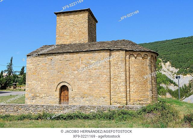 Romanesque church of San Andrés. Asieso. Huesca province. Aragón. Spain