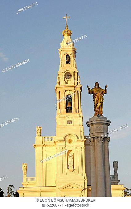 Pilgrimage church Santuário de Fátima, Fatima, Estremadura, Portugal, Europe