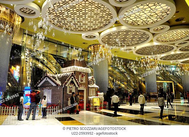 Asia, China, Macao, hall of Grand Lisboa Casino...