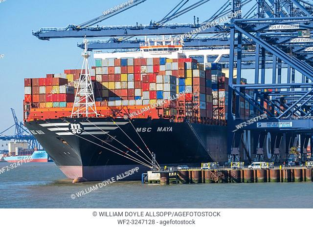 Built in 2015 the MSC Maya is one of the world's largest container ships, . The cargo ship has capacity for 19,224 20 foot containers