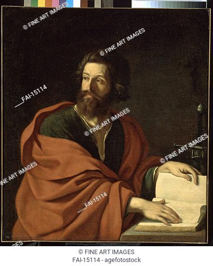 The Apostle Paul. Guercino (1591-1666). Oil on canvas. Baroque. 1640s. State A. Pushkin Museum of Fine Arts, Moscow. 111,5x99. Painting