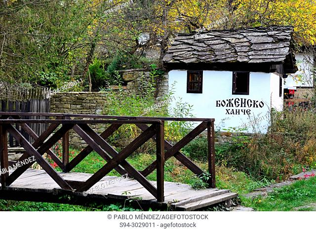 Traditional houses and bridge of Bojentsi, Bulgaria