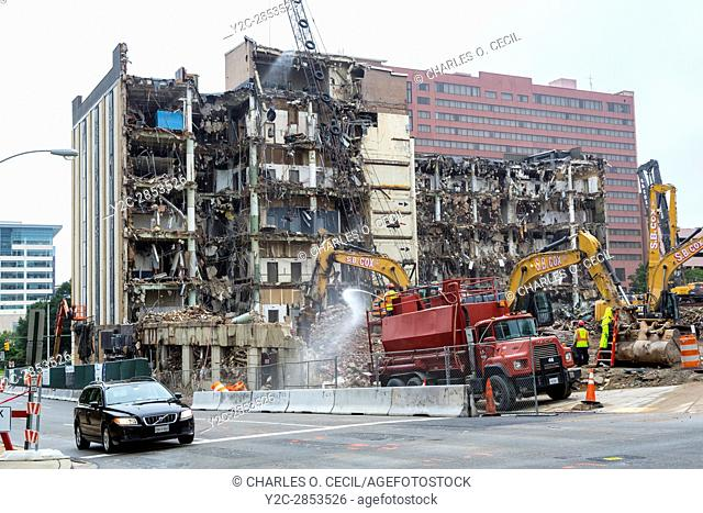 Richmond, Virginia. Urban Renewal. Demolition of an Old Cigarette Factory