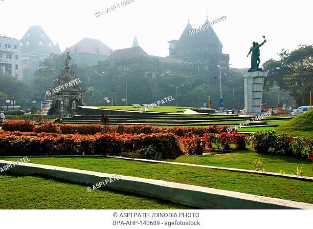 Flora fountain ; island garden ; Bombay now Mumbai ; Maharashtra ; India