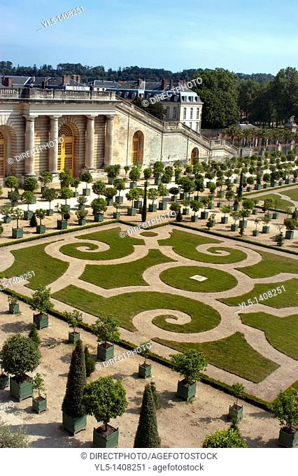 Versailles, France, Chateau de Versailles, Overview Traditional French Garden