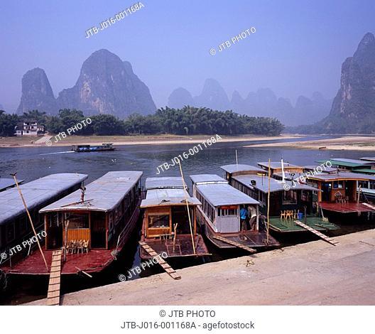 Xingping, Harbor, Guangxi, China