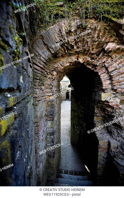 Germany, Rhineland-Palatinate, Treves, Imperial Thermal Bath, Subterranean corridor