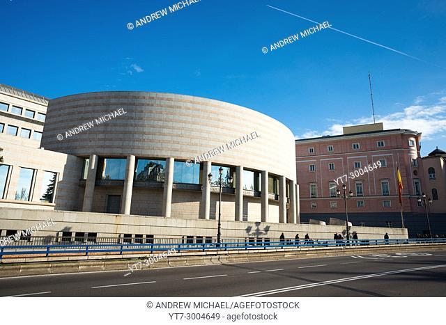 The Senate building, Edificio Senado, Madrid, Spain