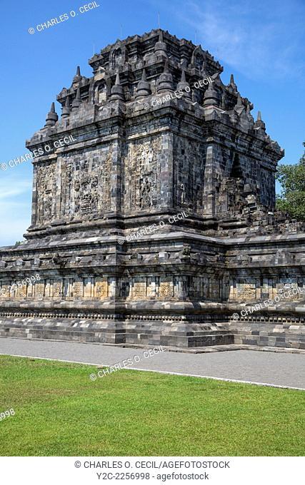 Borobudur, Java, Indonesia. Mendut Buddhist Temple, 9th. Century