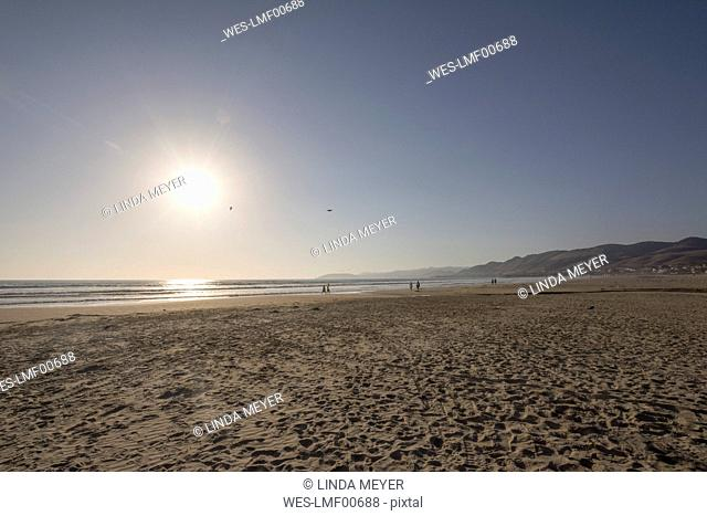 USA, California, sunset at Pismo Beach