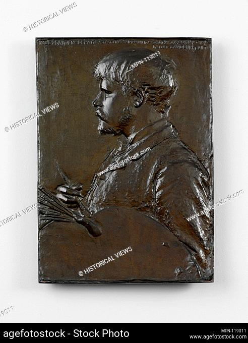 Jules Bastien-Lepage. Artist: Augustus Saint-Gaudens (American, Dublin 1848-1907 Cornish, New Hampshire); Date: 1880, cast 1910; Medium: Bronze; Dimensions: 14...