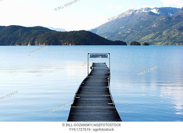 Dock on Harrison Lake - Harrison Hot Springs, British Columbia, Canada