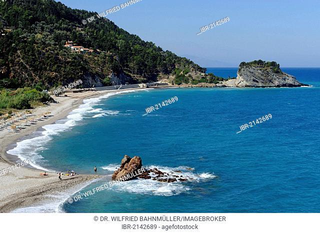 Potami beach at Karlovasi, Samos island, southern Sporades, Aegean sea, Greece, Europe