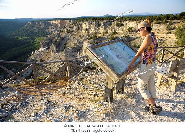 La Galiana viewpoint  Cañon del Rio Lobos Natural Park  Soria province, Castilla y Leon, Spain, Europe