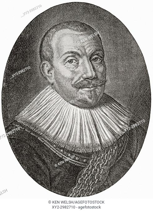 Maarten Harpertszoon Tromp, 1598 - 1653. Officer and later admiral in the Dutch navy. From Hutchinson's History of the Nations, published 1915