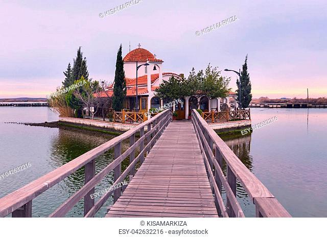 Christian Orthodox Church in Porto Lagos, Vistonida lake, Xanthi Prefecture, Thrace, Greece