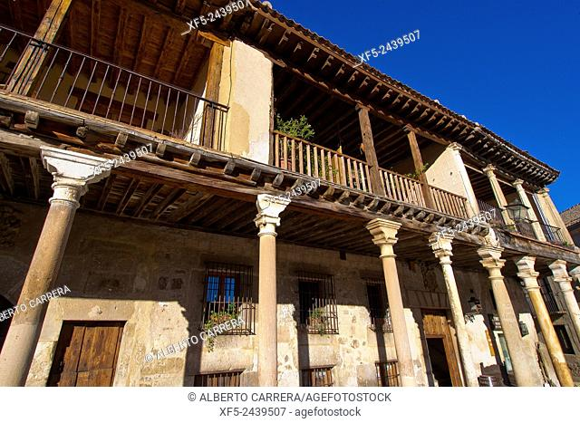 Typical Architecture, Pedraza de la Sierra, Mediaeval Village, Segovia, Castilla y León, Spain, Europe