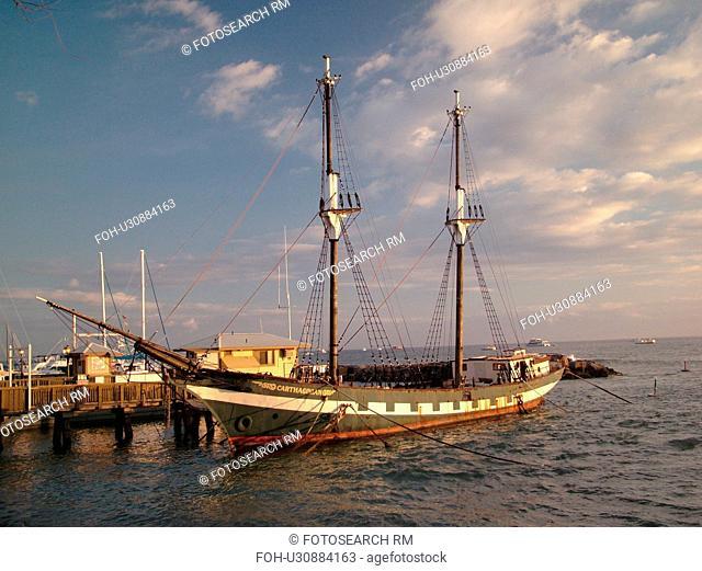 Lahaina, Maui, HI, Hawaii, West Maui, Lahaina Harbor, Carthaginian, old whaling ship