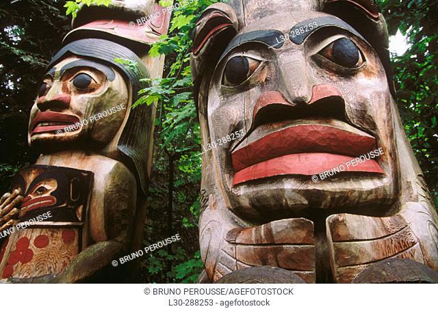 Totem Park in Capilano Suspension Bridge in Vancouver. British Columbia, Canada