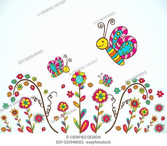Spring nice flower background