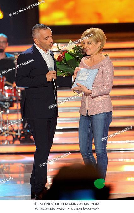 "German ZDF Live TV Show """"Willkommen bei Carmen Nebel"""" at GETEC Arena. - Show Featuring: Eros Ramazzotti, Carmen Nebel Where: Magdeburg"