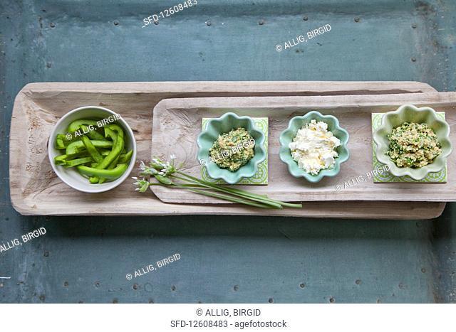 Homemade wild garlic mustard