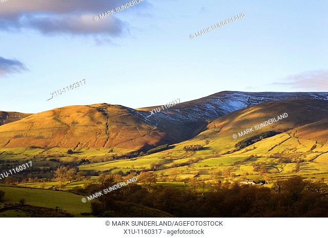 Crook and Arant Haw Fells Howgill Fells from Garsdale Yorkshire