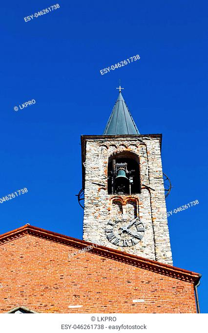 ancien clock tower in italy europe old stone antique  and bell