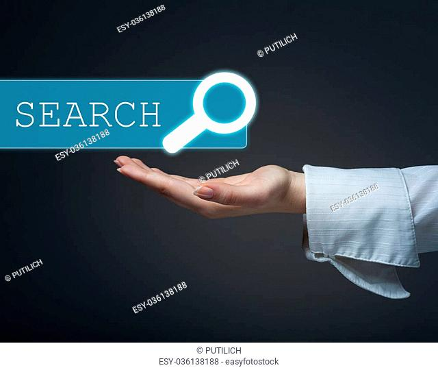 technology, searching system and internet concept