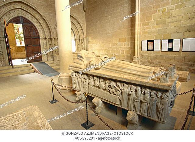Sepulcro de Doña Urraca (Doña Urraca's sepulcher). Cañas Monastery. La Rioja. Spain