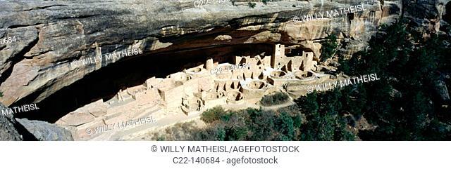 Anasazi cliff Palace. Mesa Verde National Park. Colorado. USA