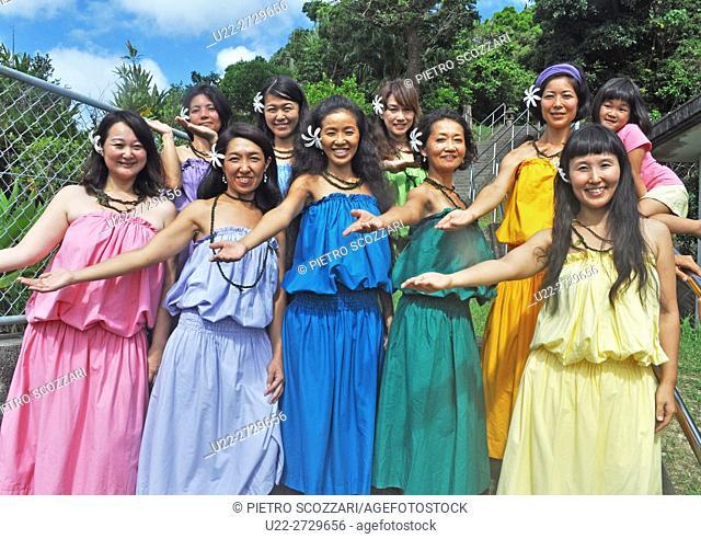 Nanjo, Okinawa, Japan: hula dancers