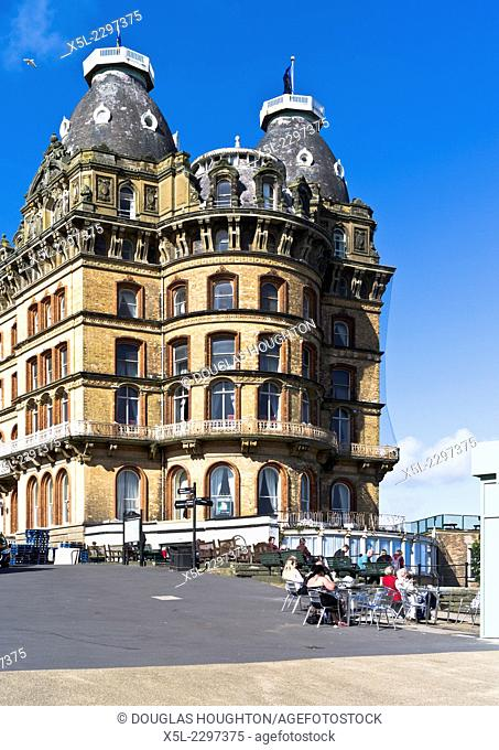 The Grand Hotel SCARBOROUGH NORTH YORKSHIRE People sitting cafe