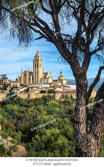 The city of Segovia and its late Gpthic Cathedral, Central Spain