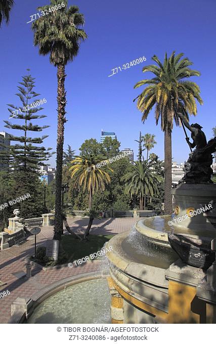Chile, Santiago, Cerro Santa Lucia, hill, park, historic monument,
