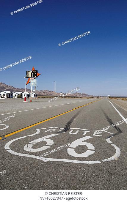 Roy's Motel and Café, Amboy, Mojave Desert, San Bernardino County, California, United States