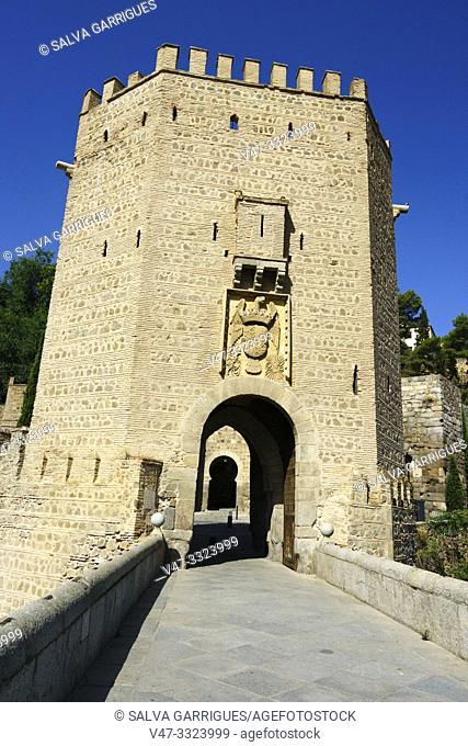 The door of Alfonso VI or old of Bisagra de Toledo, Castilla la Mancha, Spain