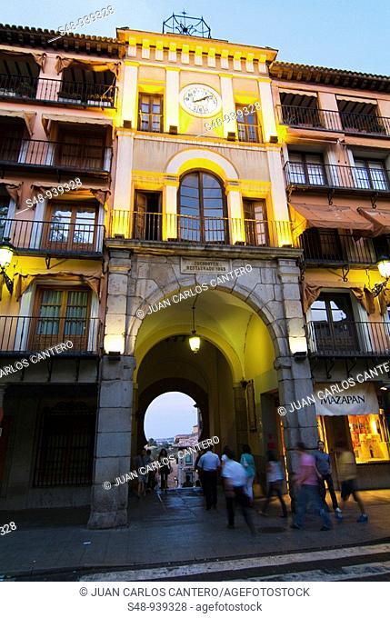 Zocodover door in Toledo. Castilla la Mancha. Spain