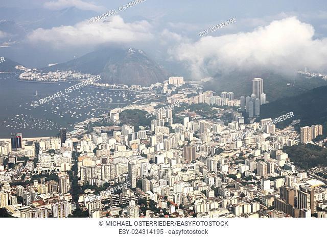 Panoramic view over Rio de Janeiro, Brazil, South america