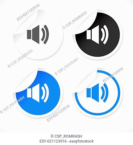 Stickers for web. Vector