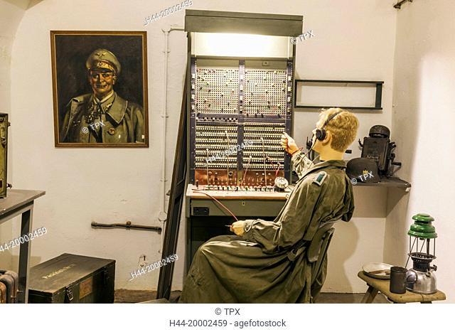 United Kingdom, Channel Islands, Jersey, The Jersey War Tunnels, German Telephone Exchange