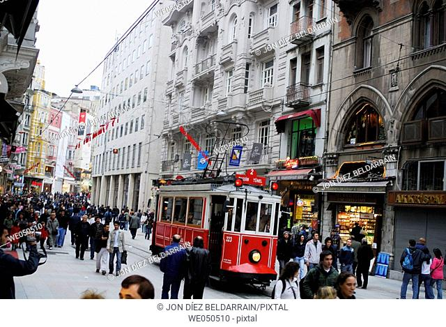 Istiklal Caddesi. Istanbul. Turkey