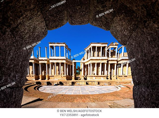 Roman ruins at Merida. Badajoz, Spain