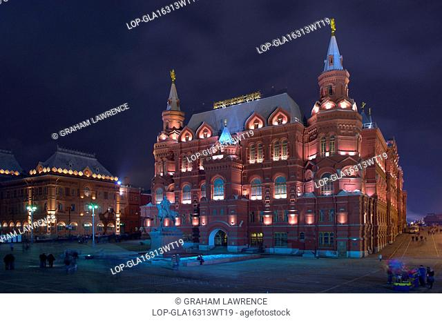Russia, Moscow Oblast, Moscow. The National State Historical Museum in Red Square