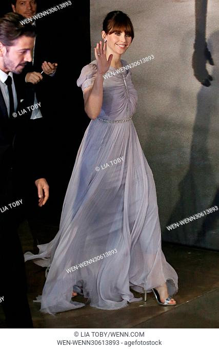 'Rogue One: A Star Wars Story' London premiere held at the Tate Modern - Arrivals Featuring: Felicity Jones Where: London
