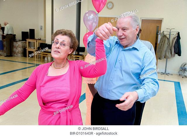 Couple dancing at a tea dance