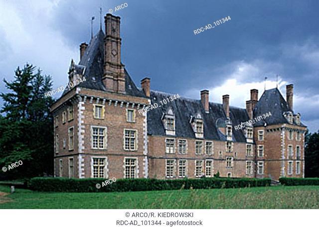 Castle St. Amand en Puisaye Burgundy France