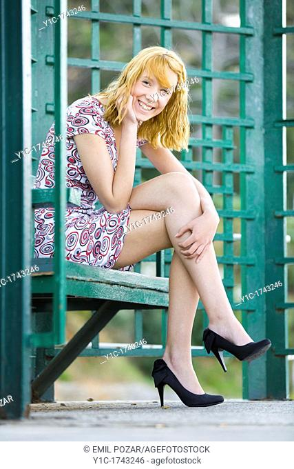 Young woman is smiling